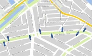 Plan voor drempels op de Van Boetzelaerlaan.