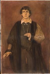Eduard Verkade als Hamlet