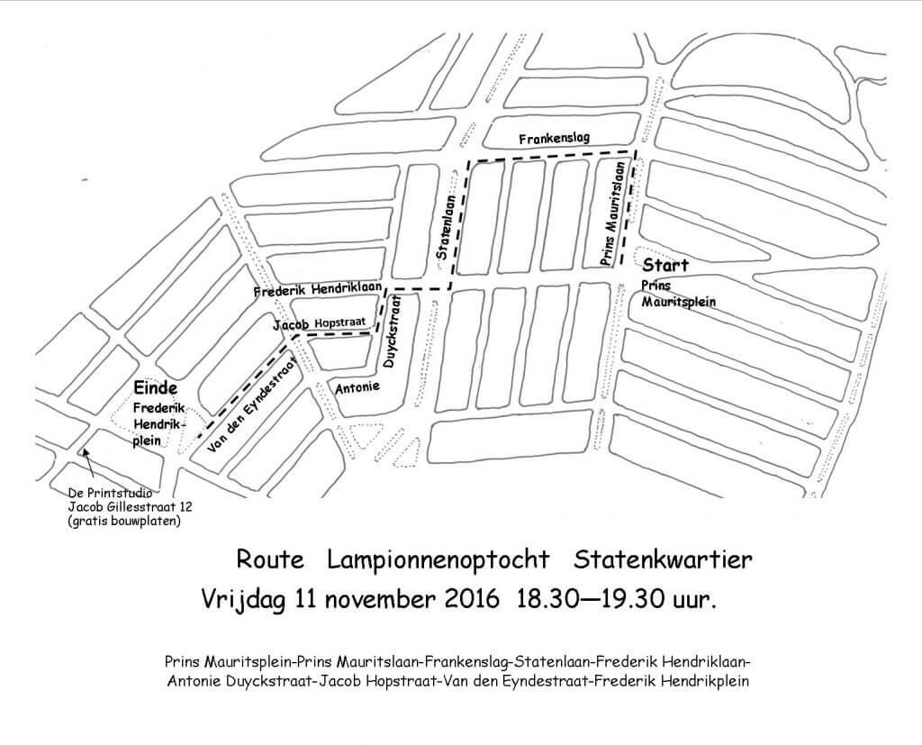 route-lampionnenoptocht-statenkwartier-2016