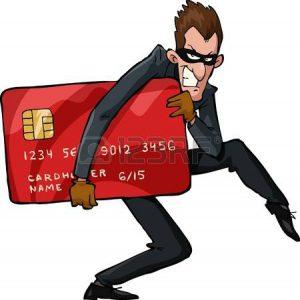 20461240-een-dief-met-een-creditcard-vectorillustratie